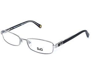Dolce & Gabbana Eyeglasses D&G 5090 1005 Silver Black Full Rim Frame 52[]17 135