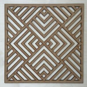 Radiator Cabinet Decorative Screening Square Radiator Grille MDF 3mm and 6mm P75