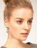 Gothic Punk Rock Earring Chain Anchor Ear Cuff Wrap Clip - on for 1 ear UK