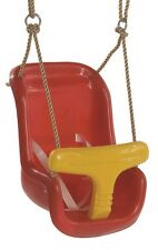 BABY GARDEN SWING SEAT RED/YELLOW WITH CLICK SAFETY STRAP-BAR -BNIB-FREEPOST
