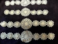 Set Tatted Lace Appliques Vintage Tatting.