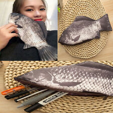 Funny Bag Silver Carp Fish Change Purse Pencil Case & Make-Up Zipper Pouch