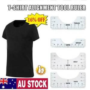 4Pcs T-Shirt Ruler Guide Vinyl T-Shirt Tool Designs on T shirt Easy To Use AU