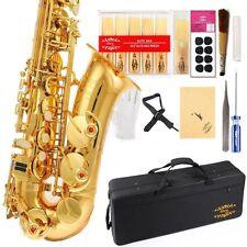 Eb Alto Saxophon w/11reeds 8 Pads Strap Case Care Kit - Gold w/Gold Keys