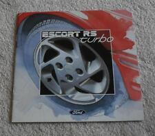 Ford Escort RS Turbo Brochure 1986 Rare RST Mk2