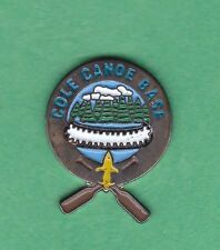 BSA- BOY SCOUTS OF AMERICA- COLE CANOE BASE-  METAL PIN BADGE
