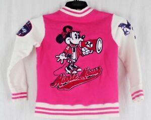 Disney Parks littlel girls Minnie Mouse jacket pink white cotton size S