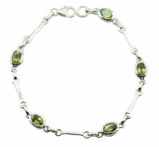 Green 925 Sterling Silver genuine classy Peridot supplies Bracelet AU