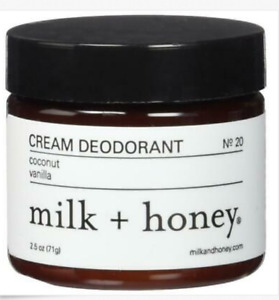 milk + honey Cream Deodorant No. 20 (Coconut, Vanilla)  2.5oz New Retail=$16