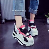 Women's Athletic Trainers Casual Creeper Platform Lace Up Sport Sneakers  Shoes