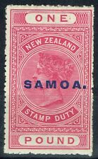 Samoa 1918 £1 Rose-Carmine SG132 P.14.5 x 14 Comb Fine Mtd Mint