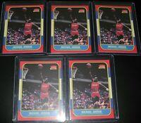 MICHAEL JORDAN 1986 Fleer Rookie Card RP Lot of 5 MINT CARDS RC - 5 cards!!