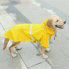 UK Reflective Waterproof Pet Dog Coat Jacket Vest Raincoat Clothes Dog Rain Coat