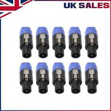 10X High-quality Audio Cable Wire Speakon Male Plug Jack Sockets Connector UK