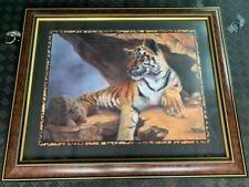 Home Interiors & Gifts Bengal Tiger Picture & Frame By Linda Wacaster