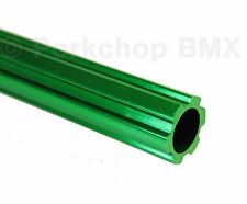 "Old school BMX bicycle 450mm seatpost seat post fluted alloy 22.2mm 7/8"" GREEN"