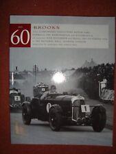 Brooks Car Auction Catalogue No 60 - 10 November & 2 December 1998 - Olympia