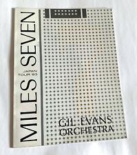 MILES DAVIS SEPTET GIL EVANS ORCHESTRA JAPAN TOUR 1983 CONCERT PROGRAM BOOK