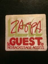 Frank Zappa 1978-79 Guest BackStagePass  VERY RARE! LAST ONE IN STOCK!