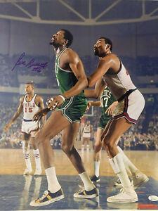 Bill Russell Signed 16x20 Autographed Celtics Photo VS Chamberlain Jsa Witn blue