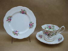 Vintage Royal Albert English China Trio ~ Mix & Match ~ Moss Rose / Pink Roses