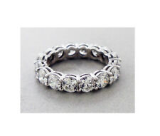 Diamond Eternity Band Ring set in Platinum 4.82 Carats E/F Colors VS/SI