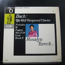 Rosalyn Tureck - Bach: The Well Tempered Clavier LP VG+ DL 10125 Decca Record