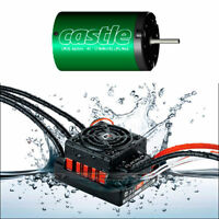 Hobbywing QuicRun WP 60A ESC+Castle CM36 7700KV Brushless Mot 1/10 CAR SCT BUGGY