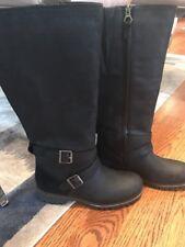 Timberland Wheelwright Tall All Fit Wide Calf WP Boot Womens 7.5 New Black NIB