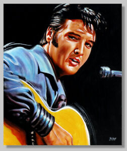 """Painted Stars As Art Graphic, Graphic, """" Elvis """" Picture, Signed, Limited,"""
