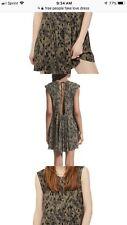 Free People Womens Fake Love Green Camo Sleeveless Open Back Mini Dress M