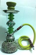 "12 ""BRICK GLASS HOOKAH SMOKING SHEESHA SHISHA NARGILA PIPE GREEN COLOUR"