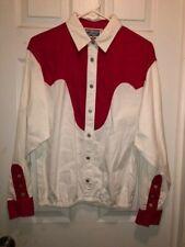 XL WOMENS WRANGLER WESTERN SHIRT RED & WHITE