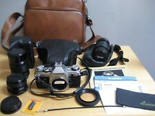 VINTAGE CANON AE-1 35MM FILM CAMERA WITH CANON 50mm & 135mm LENS