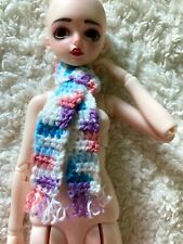 Handmade Ooak Pastel Scarf for 1:4 Msd Bjd Dolls Read Description