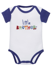 Embroidered LITTLE BROTHER, Wagon Diaper Shirt by Baby Ganz - Size 3-6 Months
