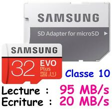 Samsung 32gb Evo Plus 95mb/s MicroSD SDHC Uhs-i Class 10 Memory Card ADP qm