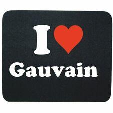 Mauspad I Love Gauvain in Schwarz Gaming Mousepad Weihnachten