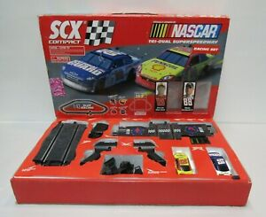 NASCAR SCX COMPACT 1:43 SLOT RACE TRACK EARNHARDT JR HARVICK LARGE CARS SUPER SP