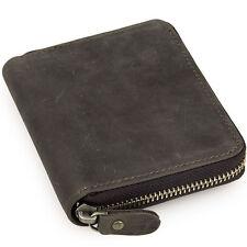 Men's Genuine Leather Short Wallet Money Card Holder Coin ID Purse Zipper around