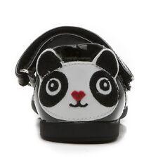 £ 76, étape 2WO nouvelle Panda Fille Noires Vernies École Dolly Mary Jane Chaussure EU 27 uk 9