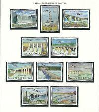 Angola Airmail 1965 - Bridges and Waterdams set MNH