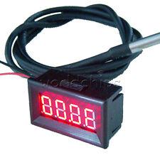 """0.36"""" RED LED -55~125°C Digital Car Thermometer Temperature Meter DS18B20 Sensor"""