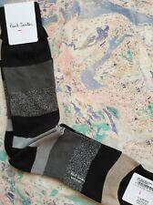 Paul Smith Mens Italian Socks Starlight Lurex Black Grey K571 One Size CottonMix