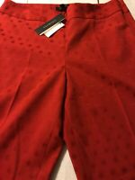 Talbots Women's Pants Red Heritage Slim Leg Ankle Stretch Size 10 X 28 NWT $109