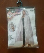 NEW Fancy Masquerade Cape Adults One size SILVER NIOB Halloween costume