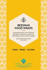 Reusable Beeswax Food Storage Wraps - Organic, sustainable and washable XL size