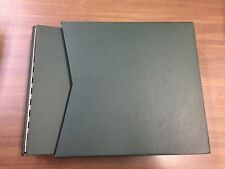 SCOTT Green National/Specialty Large 3-Ring Binder & Slipcase, NEW!!!