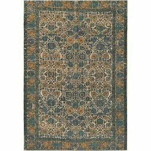 Small Oriental Rug Surya SDI-1001 Shadi Area Rug, 2' x 3' Khaki & Teal NEW