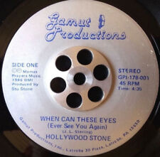 "Hollywood Stone – When can These Eyes 7"" 1986 RARE Modern Boogie Soul 45 Gamme"